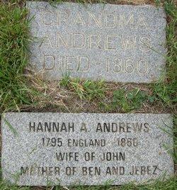 Hannah A <I>Wright</I> Andrews