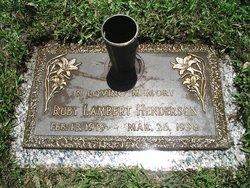 Ruby Jane <I>McPhail</I> Lambert