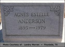 Agnes Estelle <I>Jackson</I> Anderson