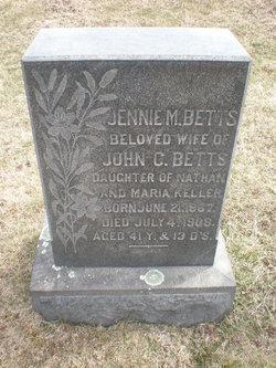 Jennie M. <I>Keller</I> Betts