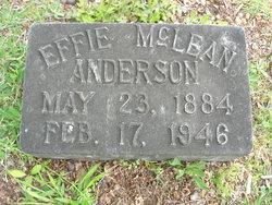 Effie <I>McLean</I> Anderson
