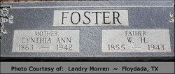 Cynthia Ann <I>Burnett</I> Foster