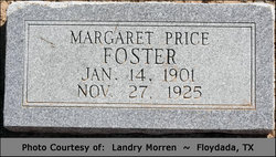 Margaret <I>Price</I> Foster