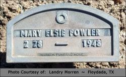 Mary Elsie Fowler