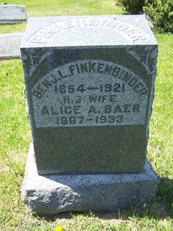 Alice Amelia <I>Bear</I> Finkenbinder