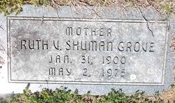 Ruth V <I>Shuman</I> Grove