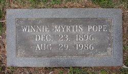 Winnie Myrtis <I>Jones</I> Pope