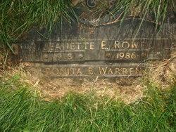 Jeanette E. <I>Bement</I> Rowe