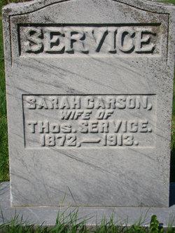 Sarah <I>Carson</I> Service