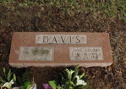 Jane Anita <I>Grubbs</I> Davis