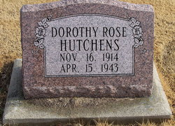 Mrs Dorothy Rose <I>Murphy</I> Hutchens