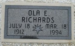 Ola Elizabeth <I>Carlyle</I> Richards