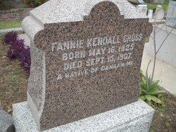 "Frances ""Fannie"" <I>Kendall</I> Cross"