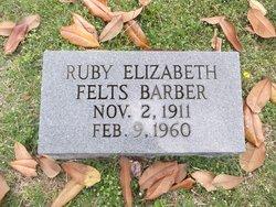 Ruby Elizabeth <I>Felts</I> Barber
