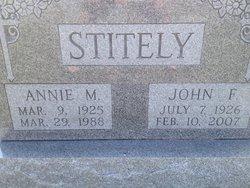 Annie M Stitely