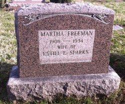 Martha <I>Freeman</I> Sparks