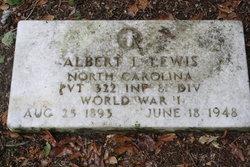 Pvt Albert Leslie Lewis