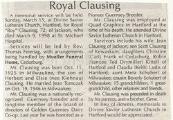 "Royal ""Roy"" Clausing"