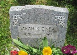 Sarah Kesiah <I>Hill</I> O'Neal