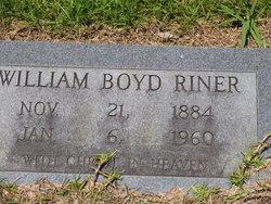 William Boyd Riner, Sr