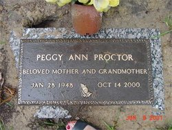 Peggy Ann <I>Moore</I> Proctor
