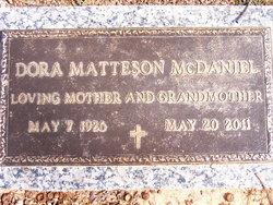 Dora <I>Matteson</I> McDaniel