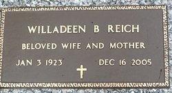 Willadeen B <I>Ericson</I> Reich