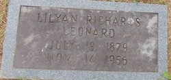 Lilyan <I>Richards</I> Leonard
