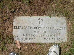 Elizabeth <I>Bowman</I> Abbott