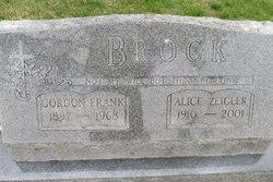 Alice May <I>Zeigler</I> Brock