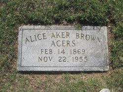 Alice E <I>Roach</I> Brown