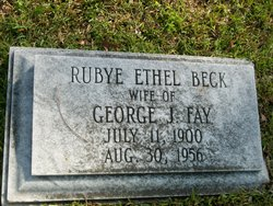 Rubye Ethel <I>Beck</I> Fay