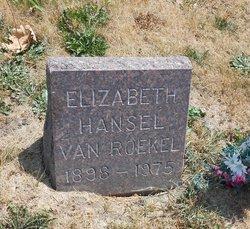 Elizabeth <I>Hansel</I> Van Roekel