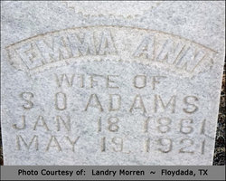 Emma Ann <I>Powers</I> Adams