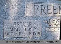 Ester Mabel <I>Watkins</I> Freeman