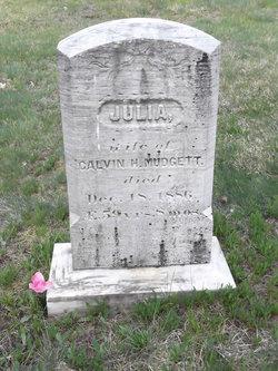 Julia <I>Fisher</I> Mudgett