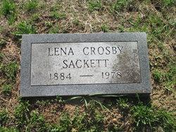 Lena <I>Crosby</I> Sackett