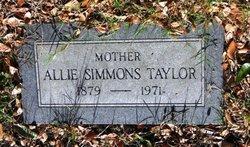 Allie Valerie <I>Simmons</I> Taylor