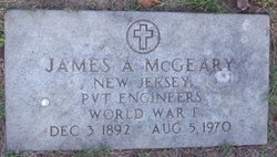 Pvt James A. McGeary
