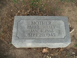 "Malinda Paradine ""Parrie"" Maxey"