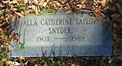 Alla Catherine <I>Taylor</I> Snyder