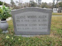 Elaine Marie Elise <I>Woods</I> Allen