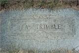 Fay <I>Foster</I> Trimble