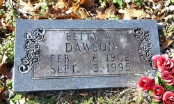 Betty <I>Womack</I> Dawson