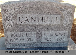 Dollie Lee <I>Green</I> Cantrell