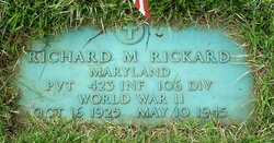 Pvt Richard M Rickard