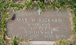 Max William Rickard