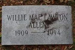 Willie Mae <I>Lawton</I> Allen