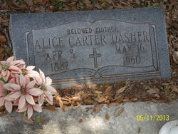 Alice <I>Bashlor</I> Carter Dasher