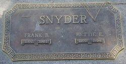 Frank B Snyder